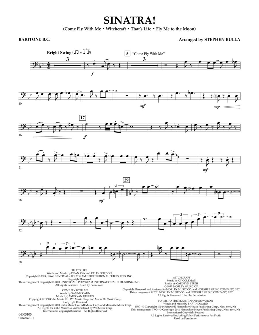 Sinatra! - Baritone B.C.