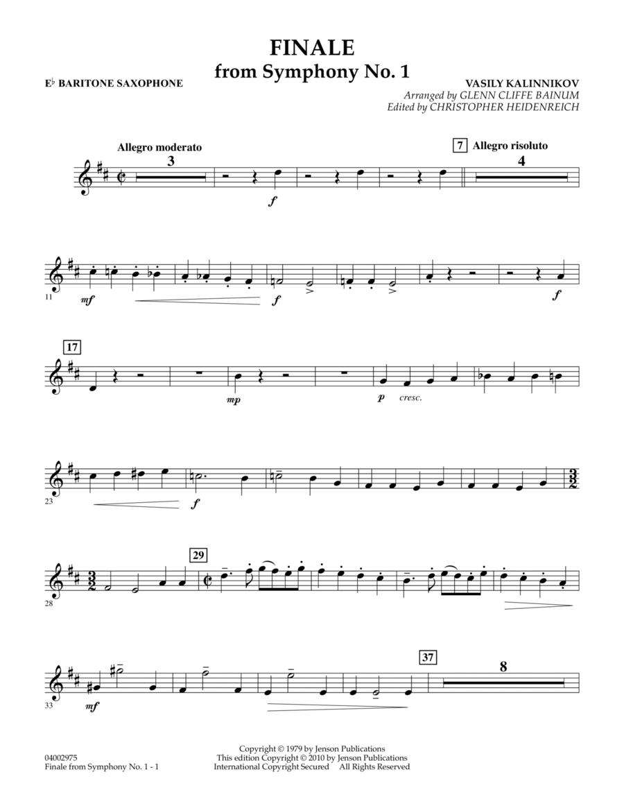 Finale from Symphony No. 1 - Eb Baritone Sax