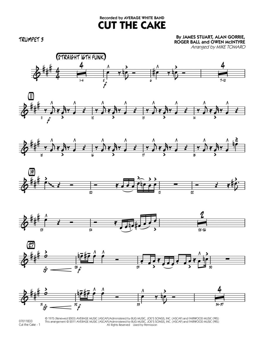 Cut The Cake - Trumpet 3