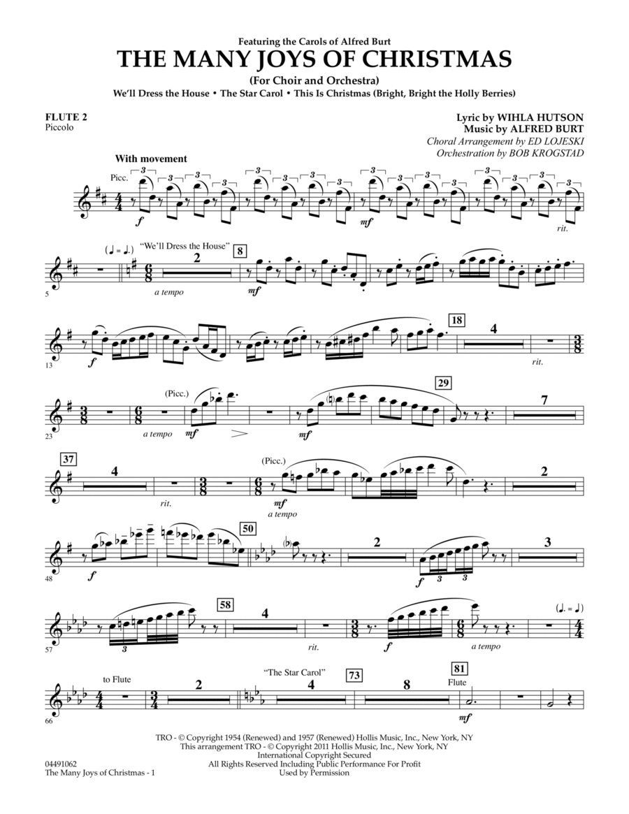 The Many Joys Of Christmas (Set One) - Flute 2