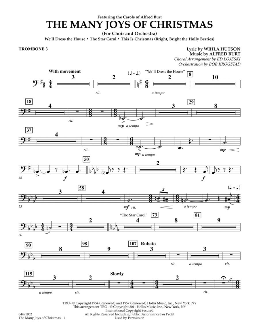 The Many Joys Of Christmas (Set One) - Trombone 3