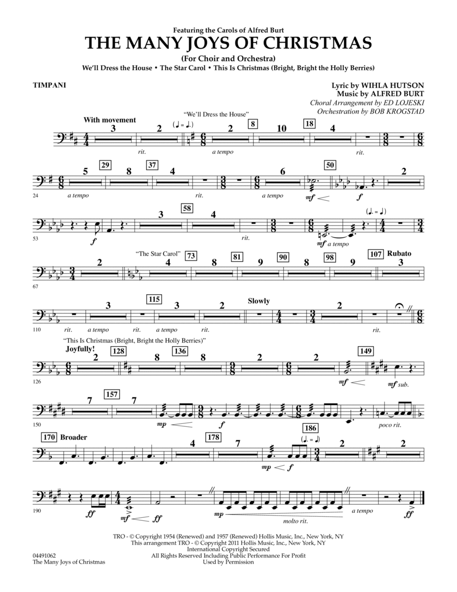 The Many Joys Of Christmas (Set One) - Timpani