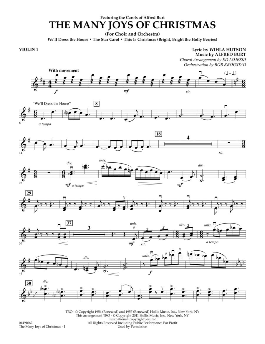 The Many Joys Of Christmas (Set One) - Violin 1