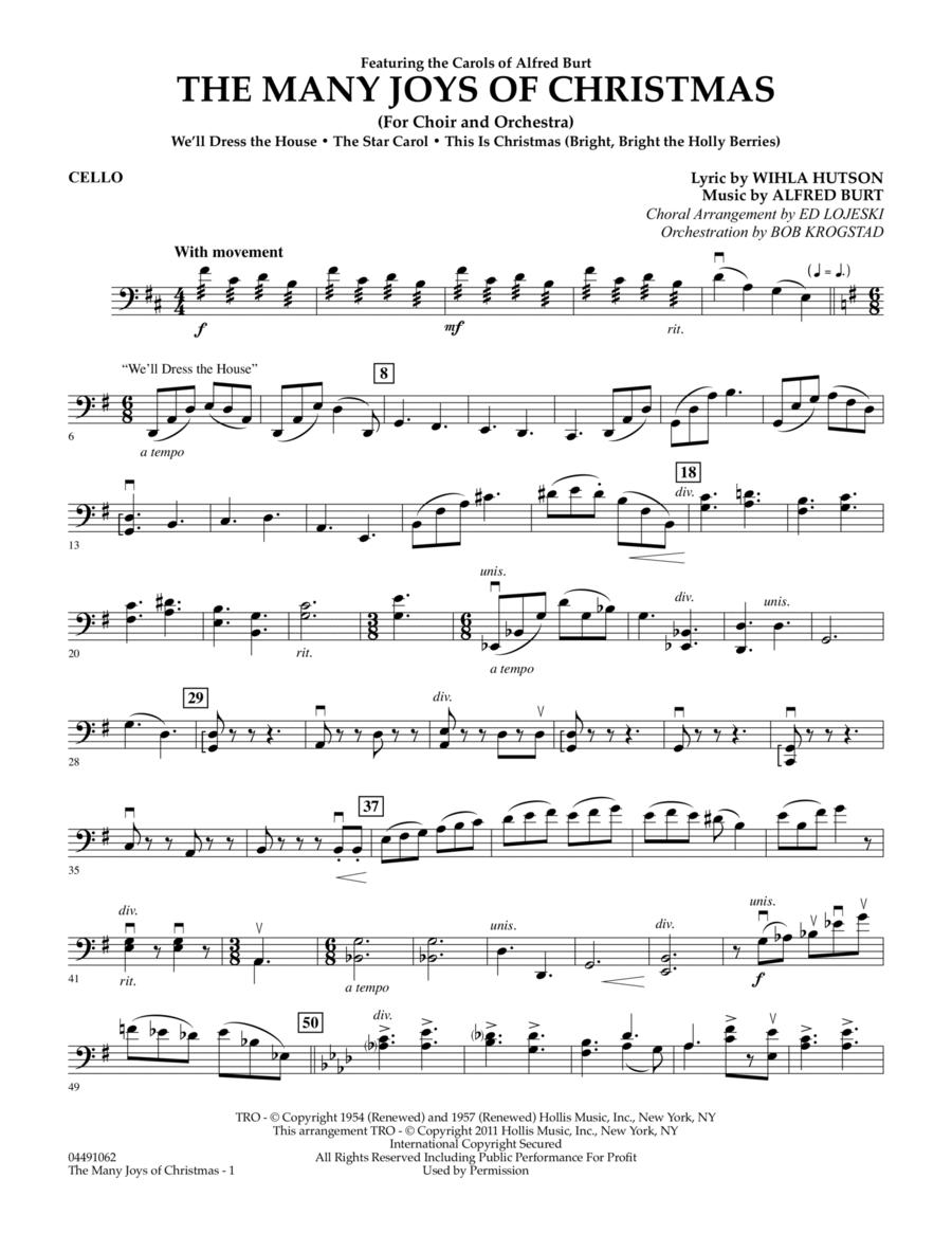 The Many Joys Of Christmas (Set One) - Cello