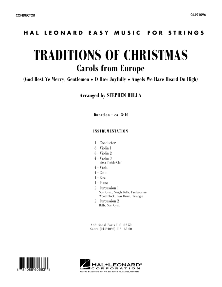 Traditions Of Christmas (Carols From Europe) - Full Score