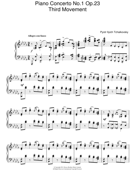 Piano Concerto No. 1 Op. 23 (Third Movement)