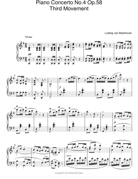 Piano Concerto No. 4 Op. 58 (Third Movement)