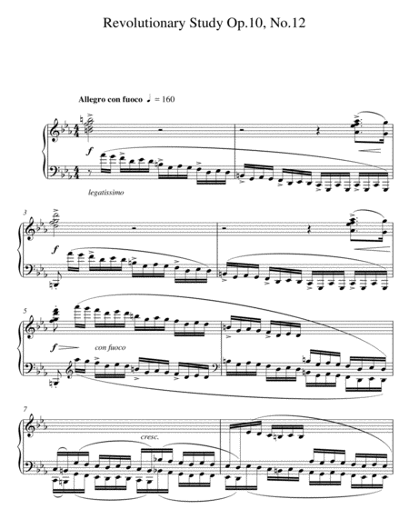 Revolutionary Study Op.10 No.12