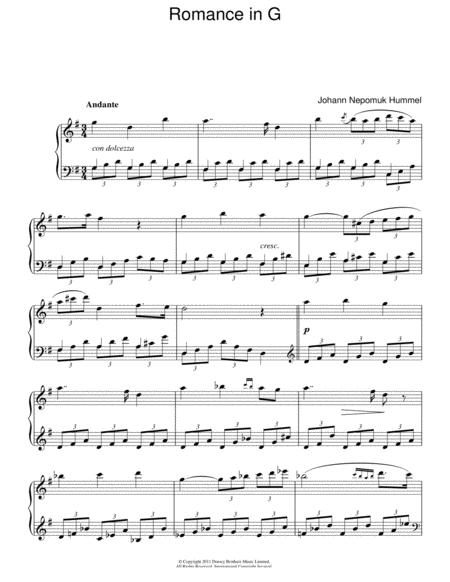 Romance In G Op.52 No.4