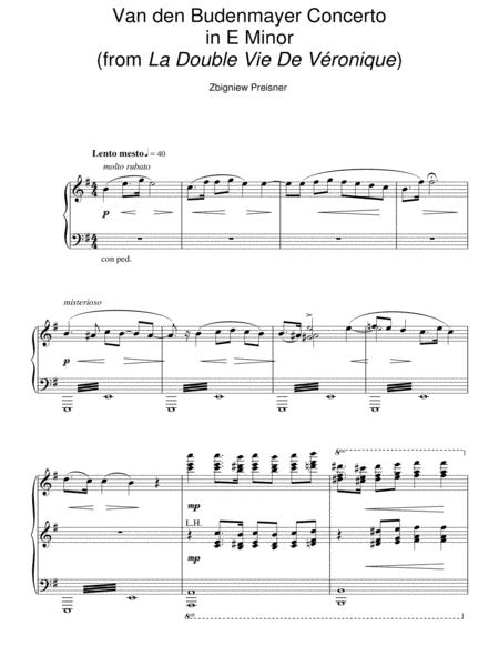 Van Den Budenmayer Concerto In E Minor (from La Double Vie De Veronique)