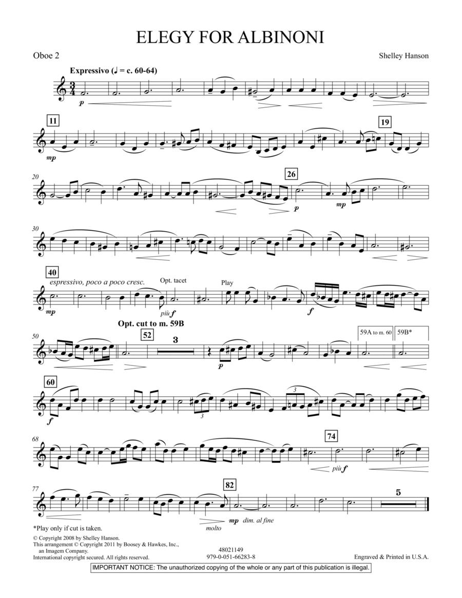 Elegy For Albinoni - Oboe 2