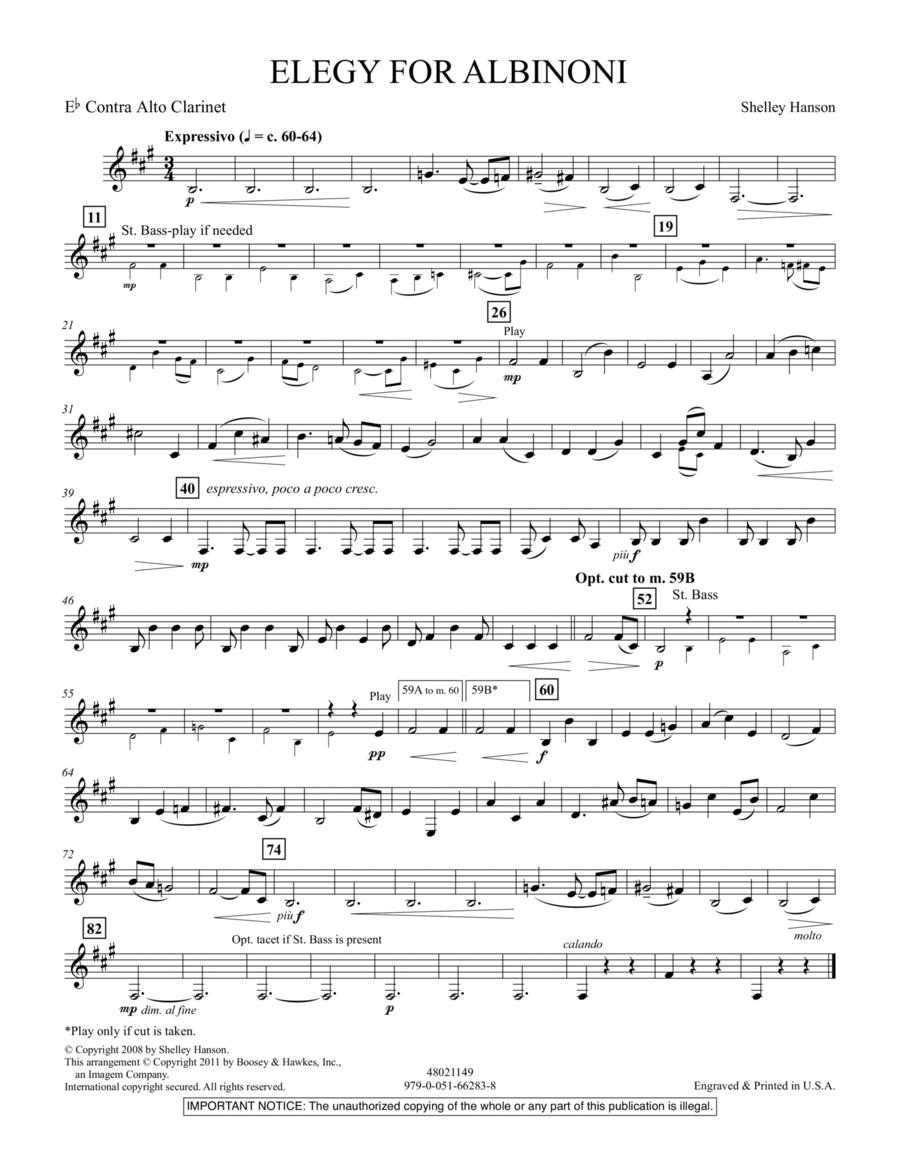 Elegy For Albinoni - Eb Contra Alto Clarinet