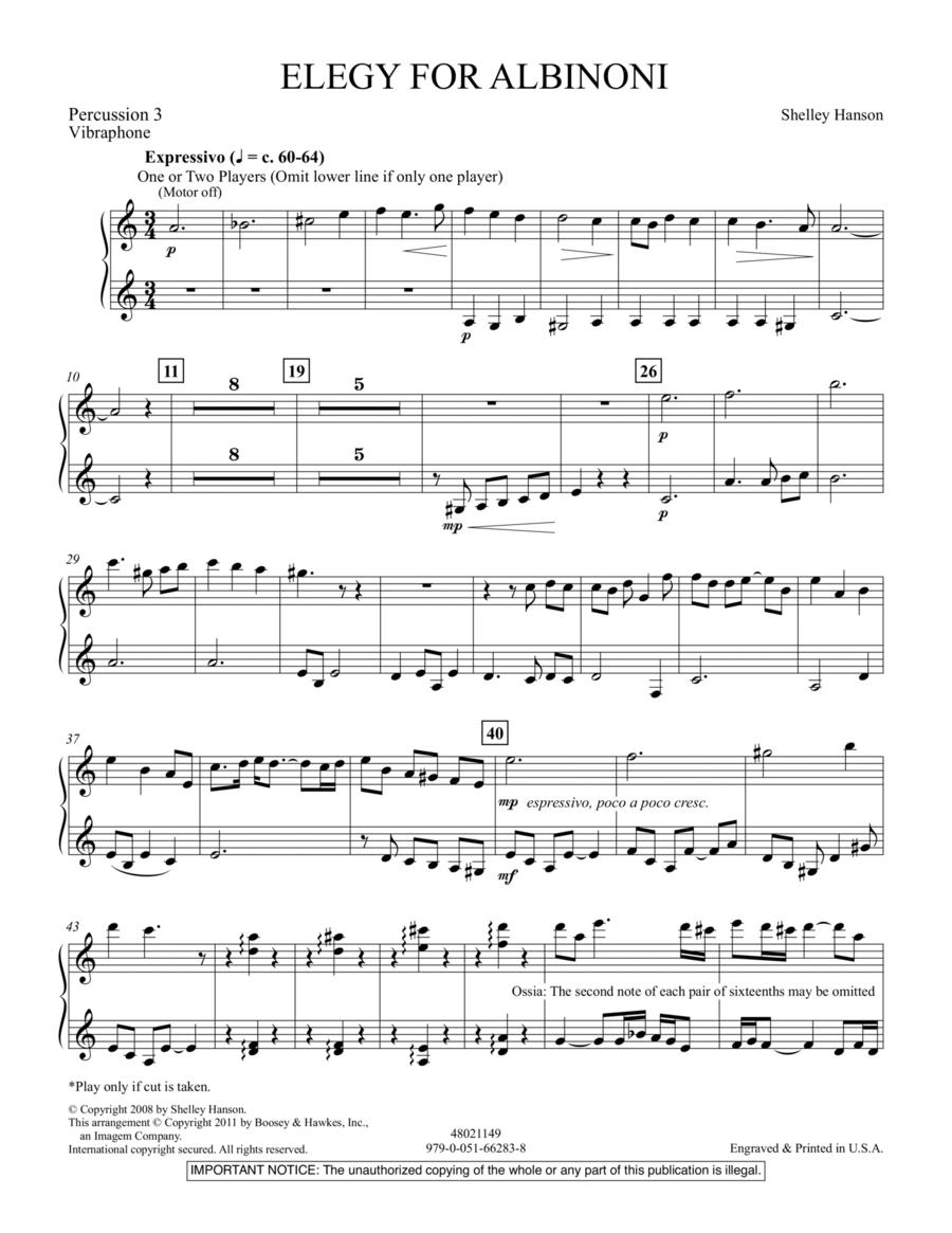 Elegy For Albinoni - Percussion 3