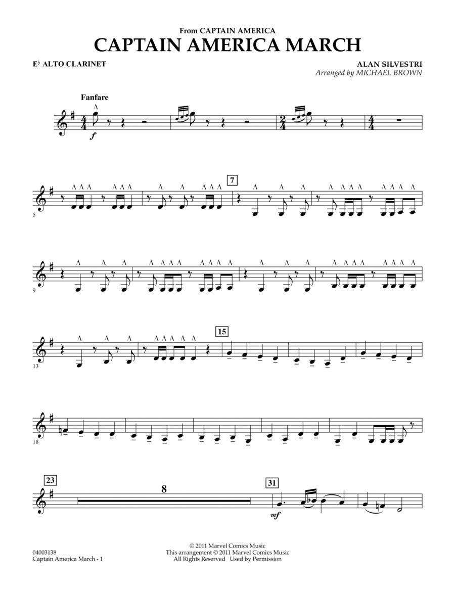 Captain America March - Eb Alto Clarinet