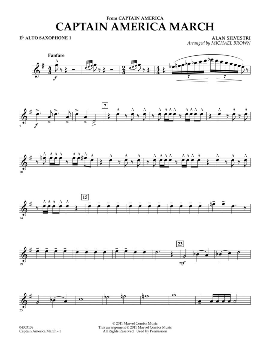 Captain America March - Eb Alto Saxophone 1