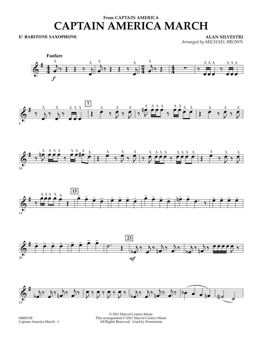 Captain America March - Eb Baritone Saxophone