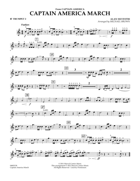 Captain America March - Bb Trumpet 2