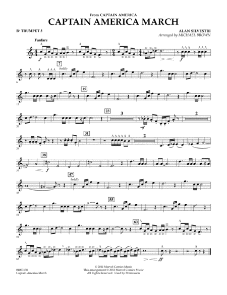 Captain America March - Bb Trumpet 3