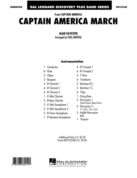 Captain America March - Full Score