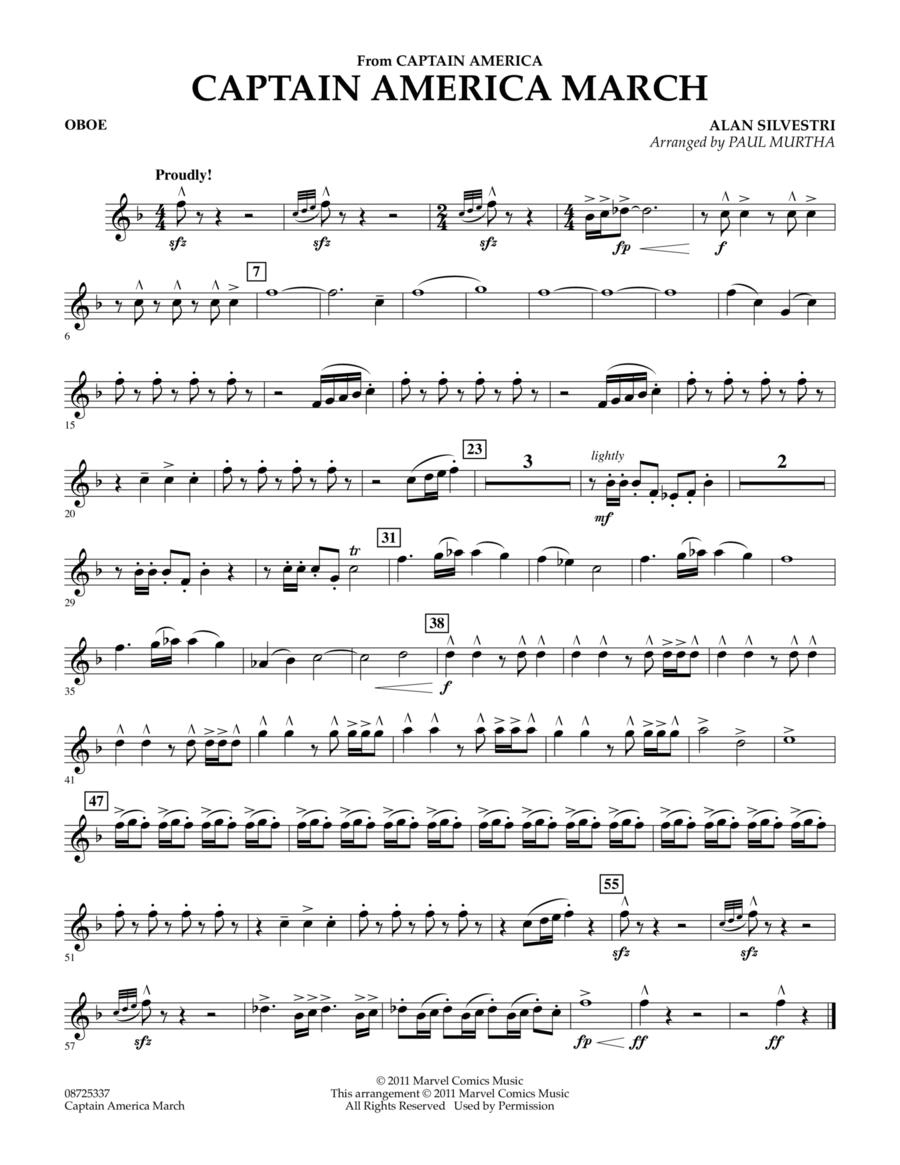 Captain America March - Oboe