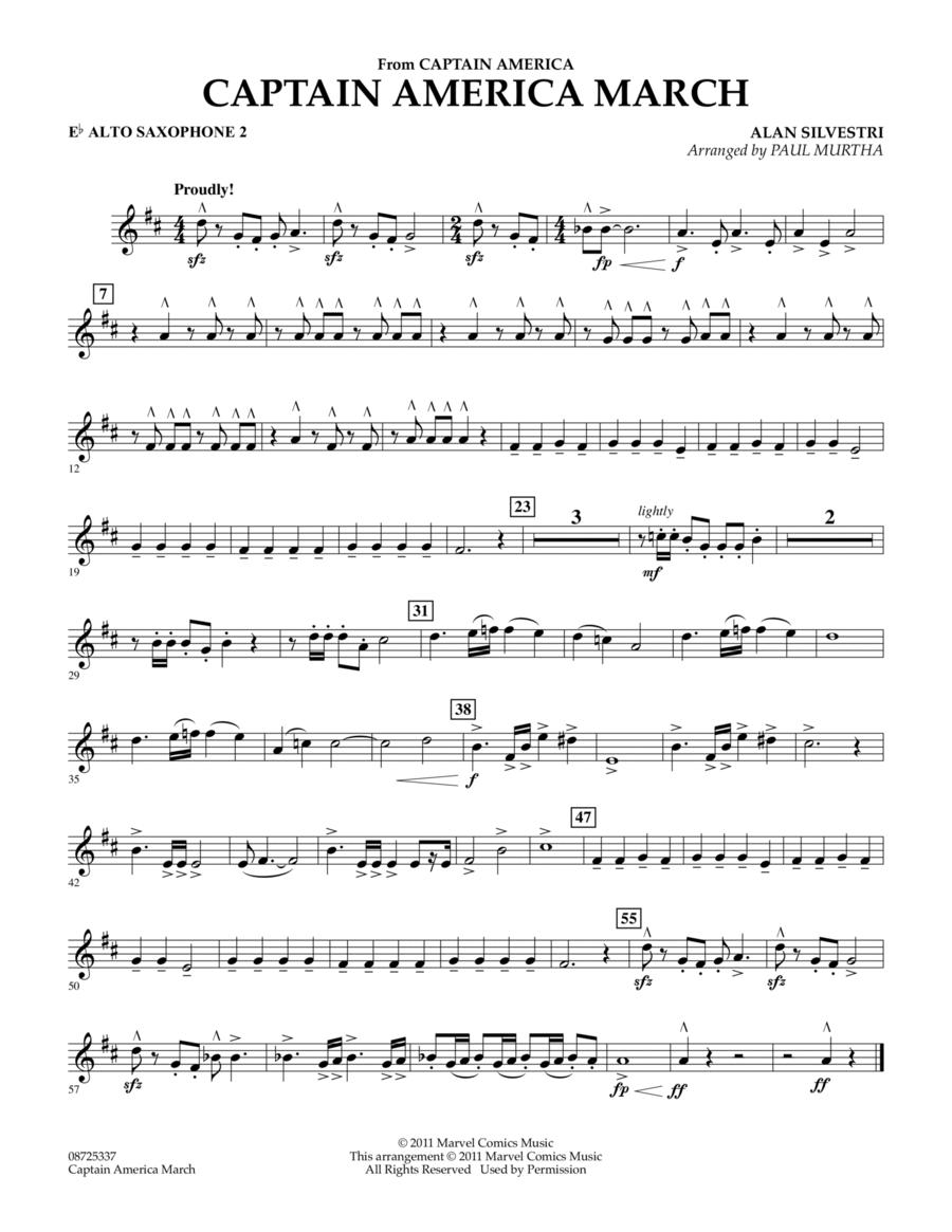 Captain America March - Eb Alto Saxophone 2