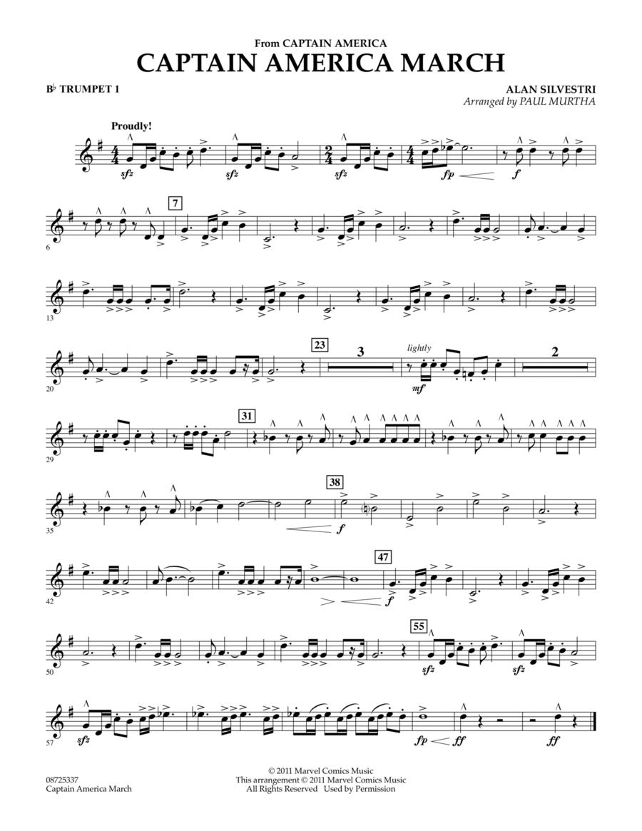Captain America March - Bb Trumpet 1