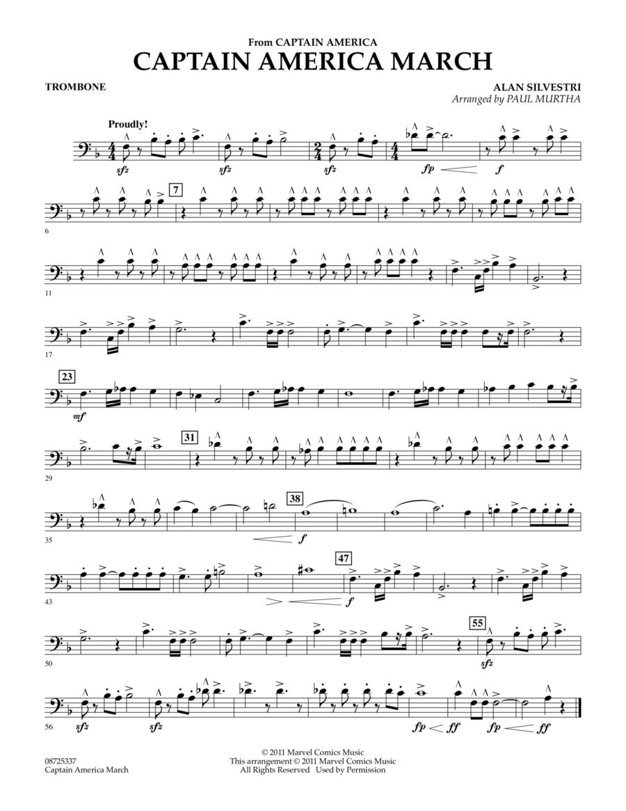 Captain America March - Trombone