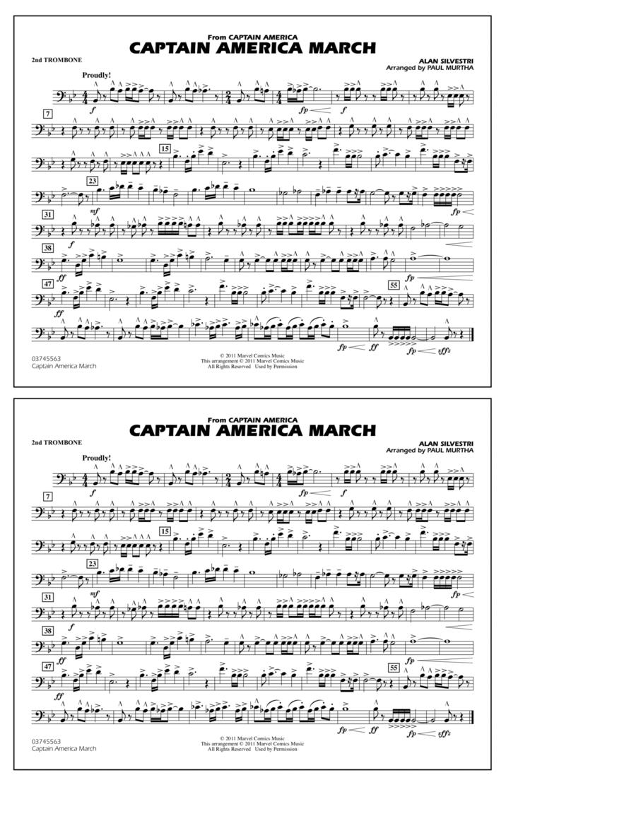 Captain America March - 2nd Trombone