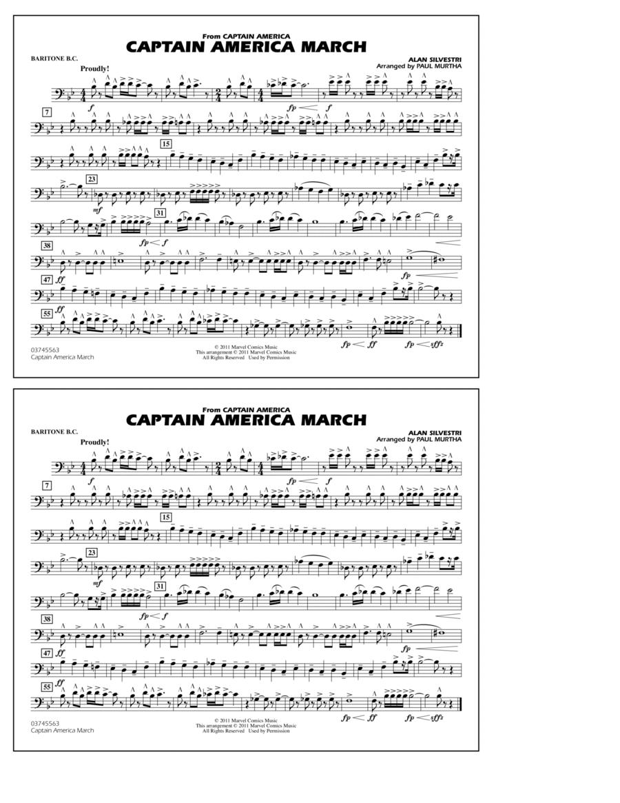 Captain America March - Baritone B.C.