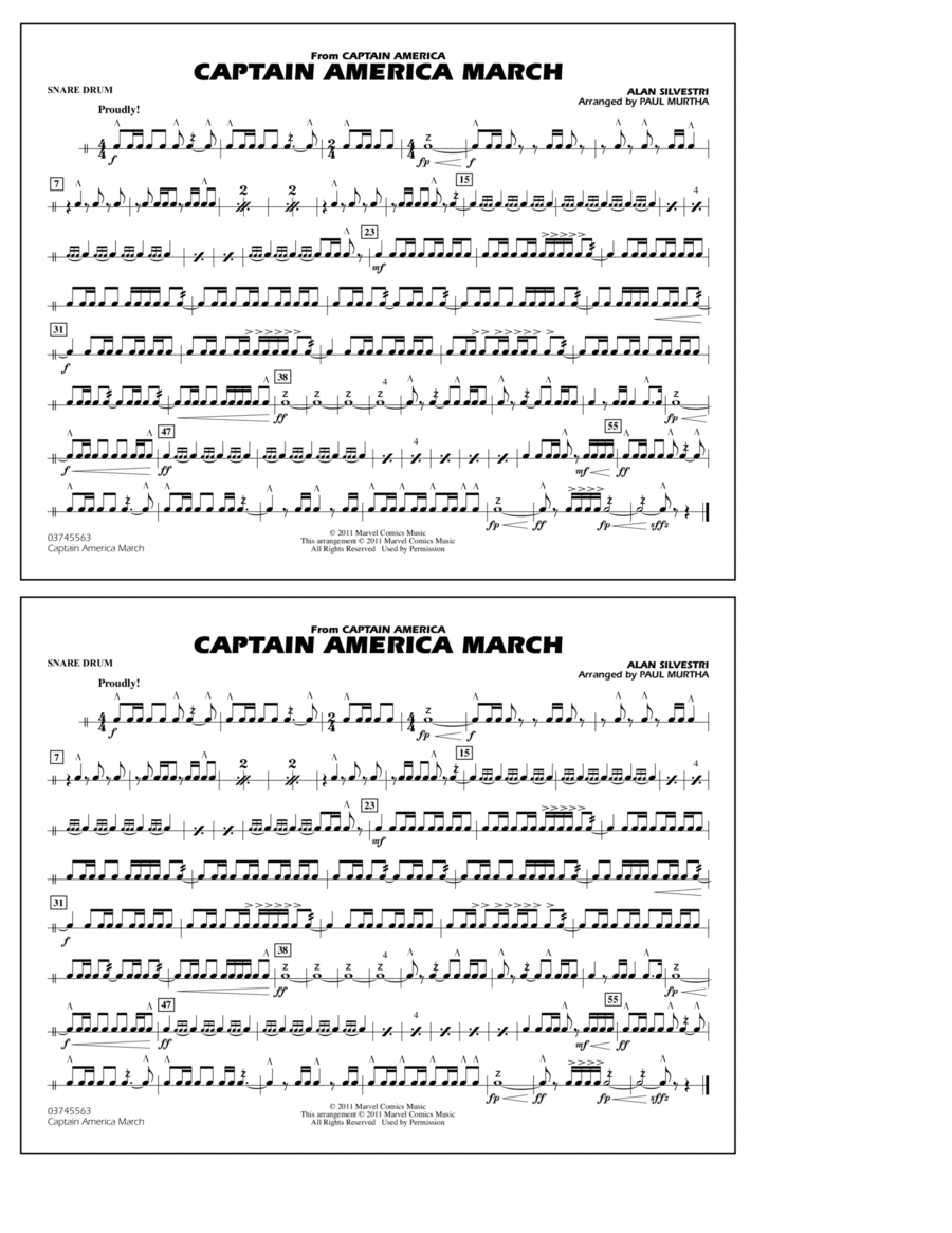 Captain America March - Snare Drum