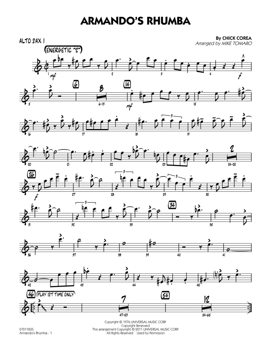 Armando's Rhumba - Alto Sax 1