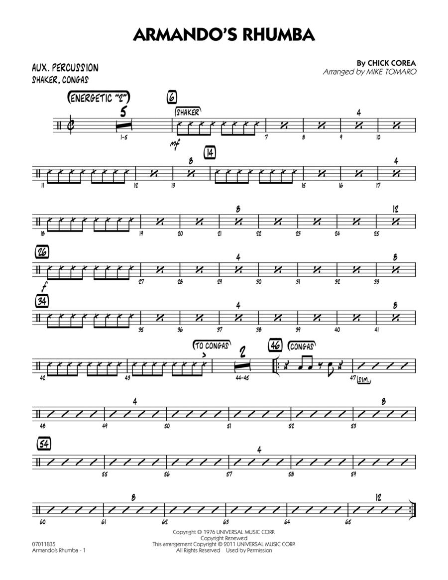 Armando's Rhumba - Aux Percussion