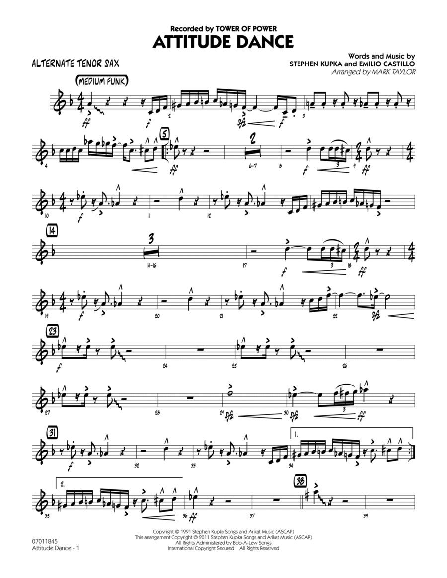 Attitude Dance - Alternate Tenor Sax
