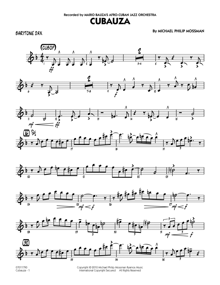 Cubauza! - Baritone Sax
