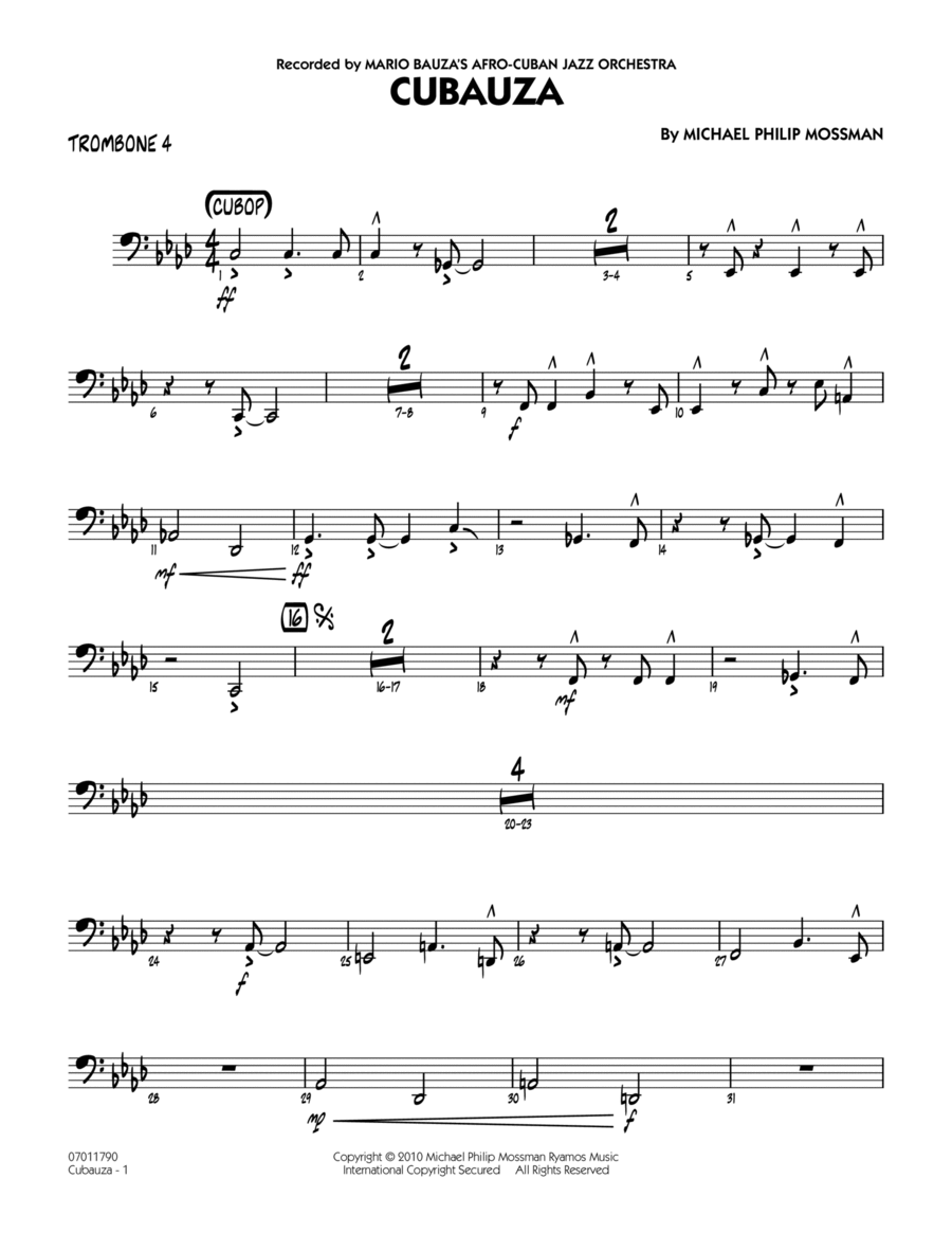 Cubauza! - Trombone 4