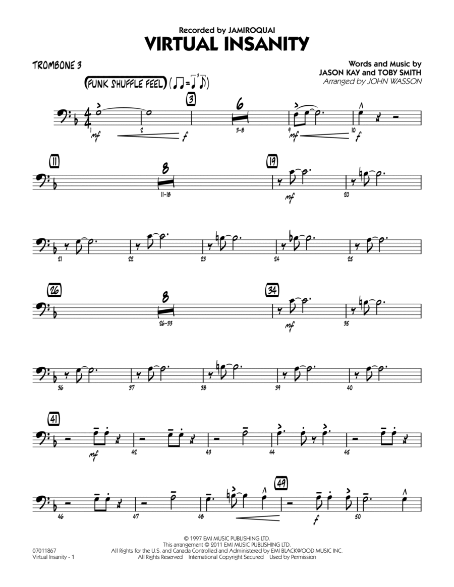 Virtual Insanity - Trombone 3
