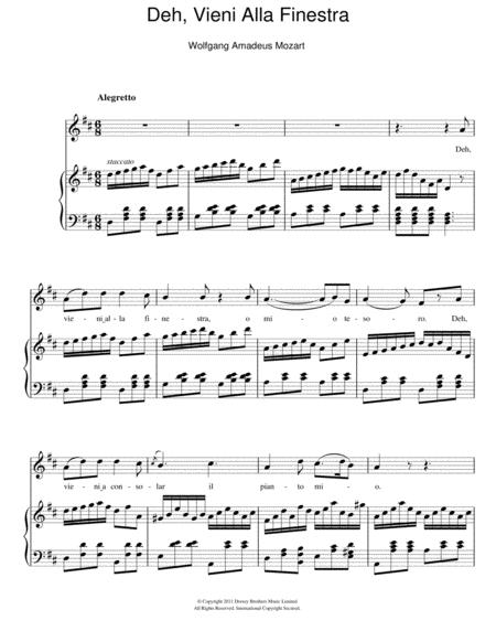 Deh, Vieni Alla Finestra (Serenade)