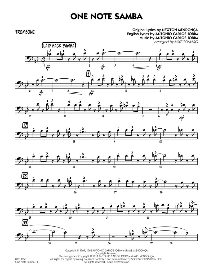 One Note Samba - Trombone