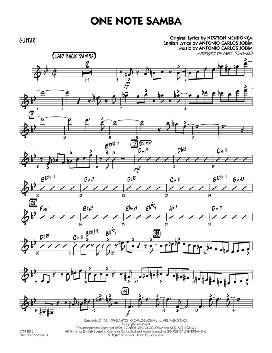One Note Samba - Guitar
