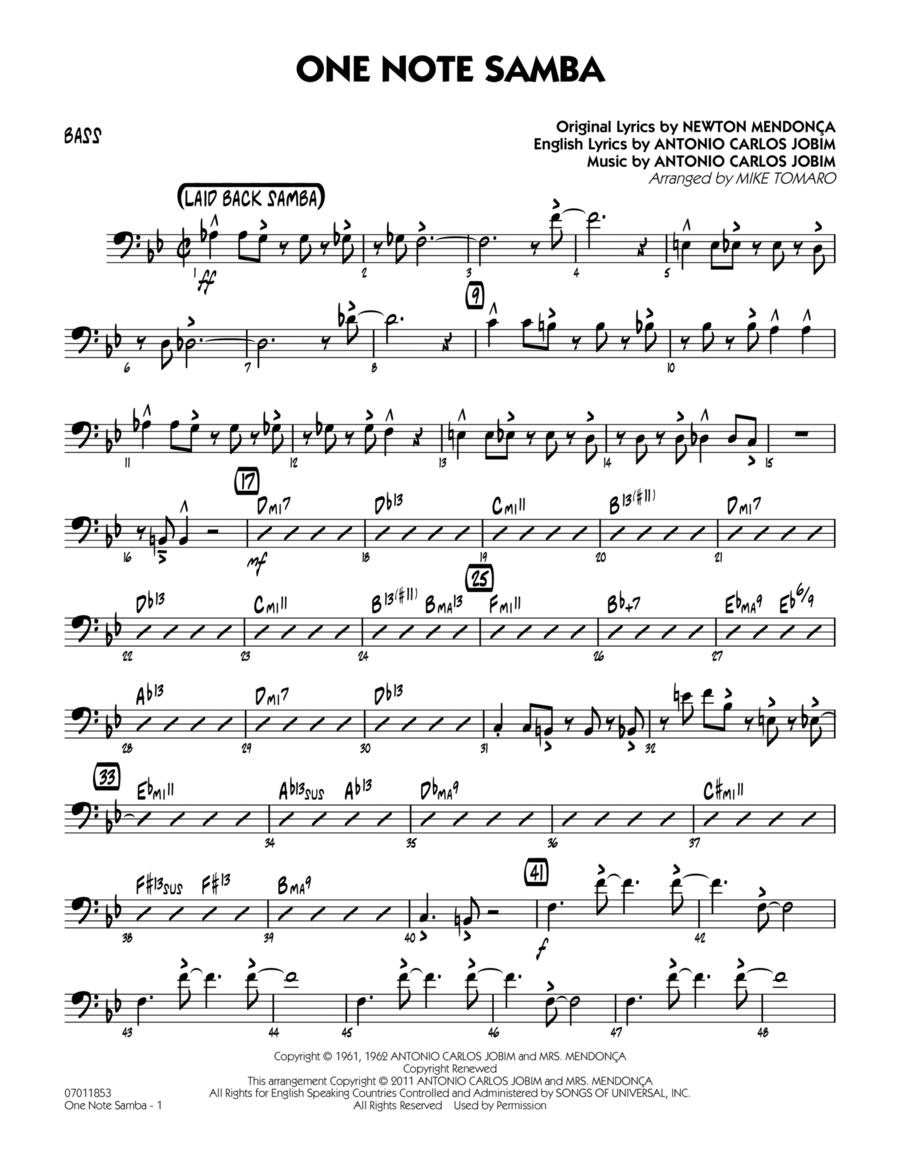 One Note Samba - Bass