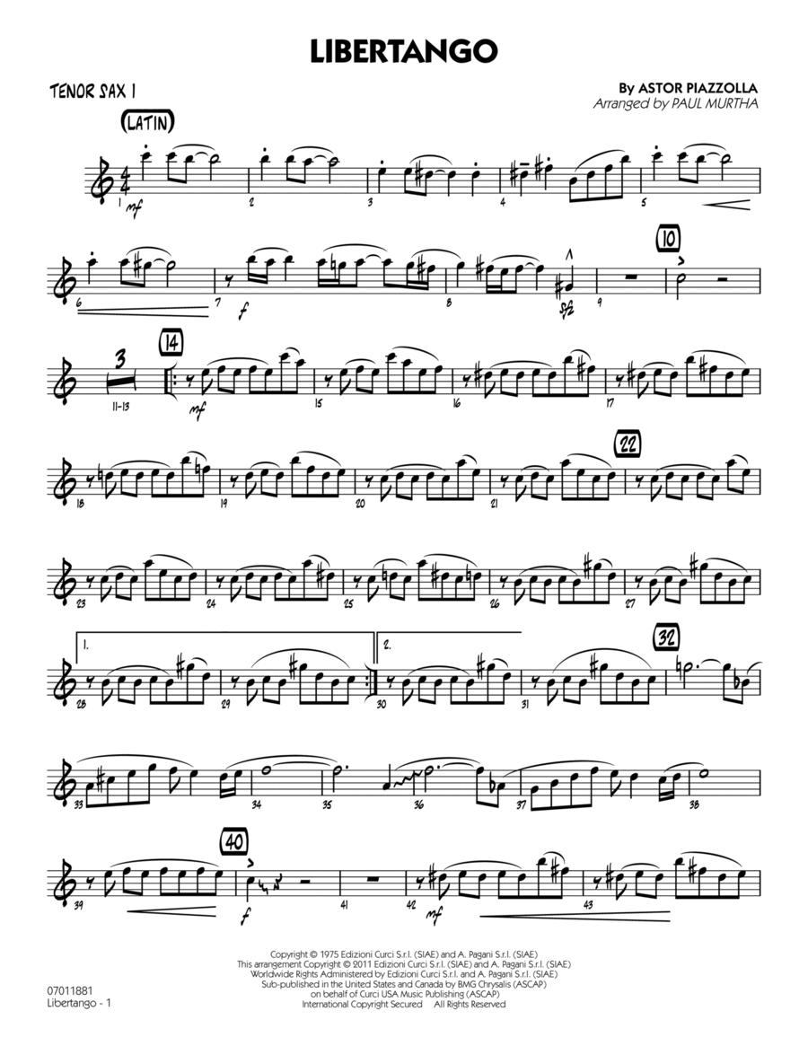 Libertango - Tenor Sax 1