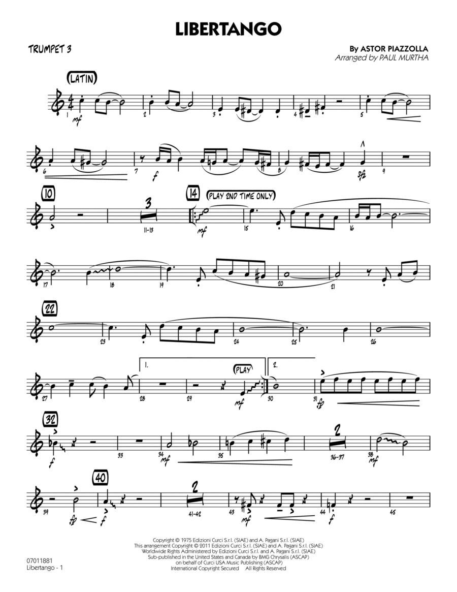 Libertango - Trumpet 3