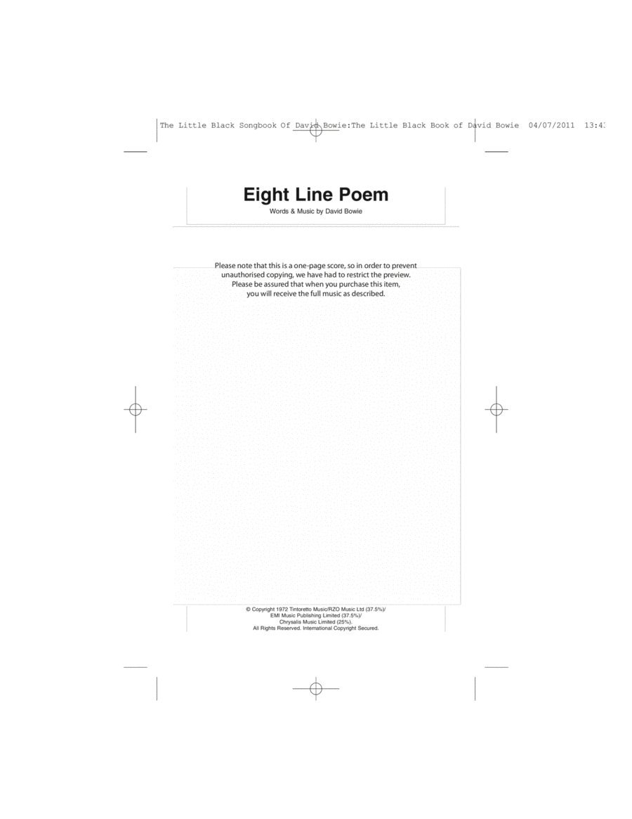 Eight Line Poem