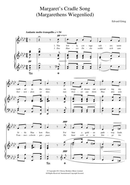 Margaret's Cradle Song (Margarethens Wiegenlied)