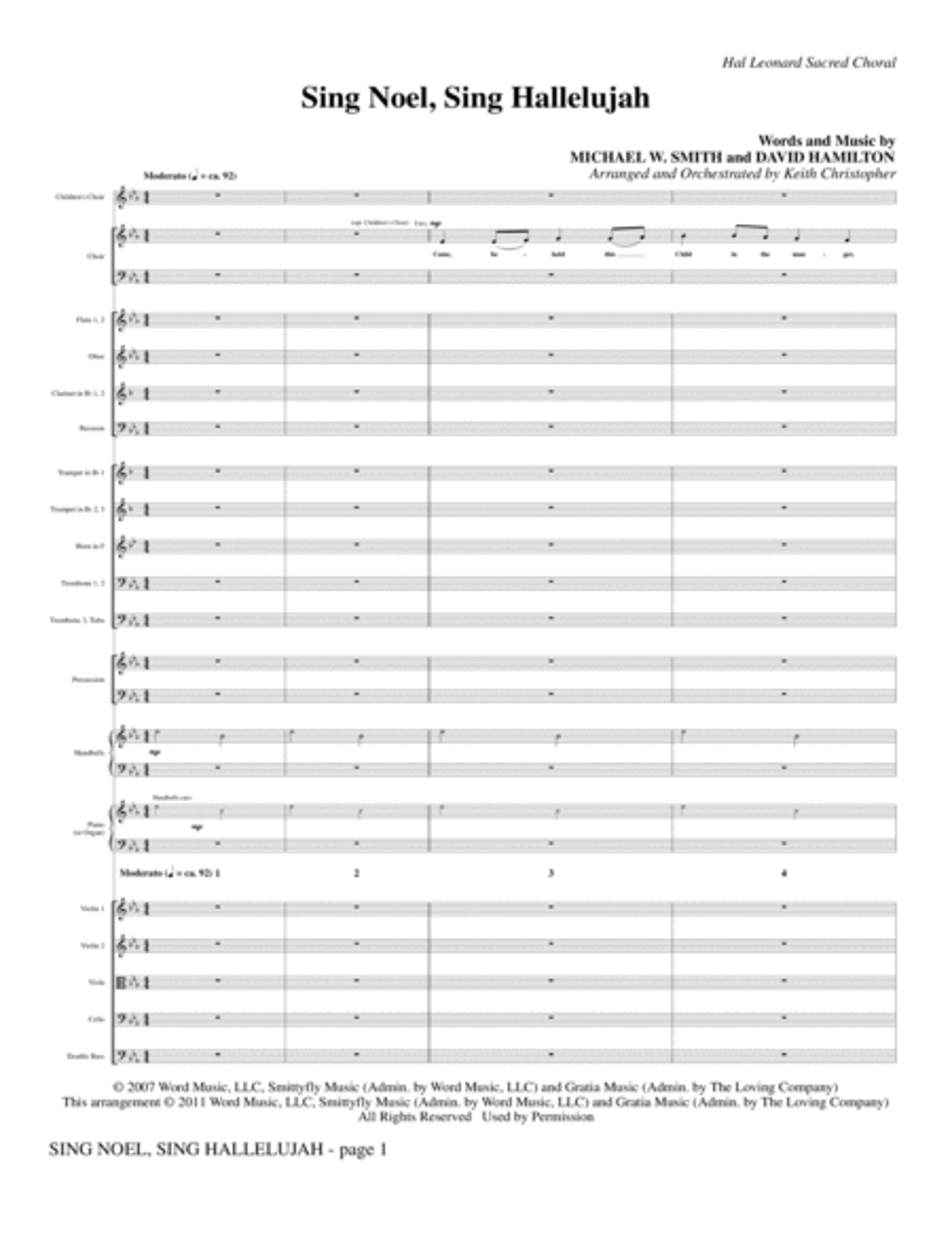 Sing Noel, Sing Hallelujah - Full Score