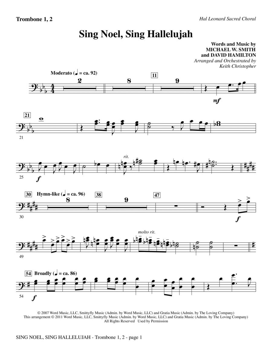 Sing Noel, Sing Hallelujah - Trombone 1 & 2