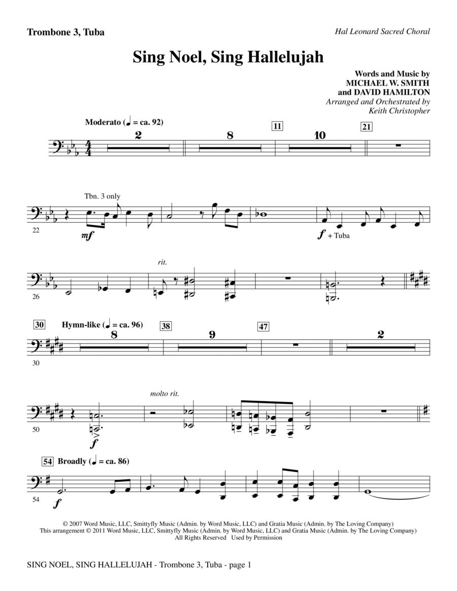 Sing Noel, Sing Hallelujah - Trombone 3/Tuba