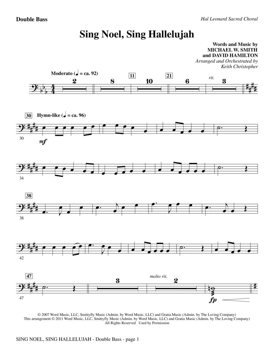 Sing Noel, Sing Hallelujah - Double Bass