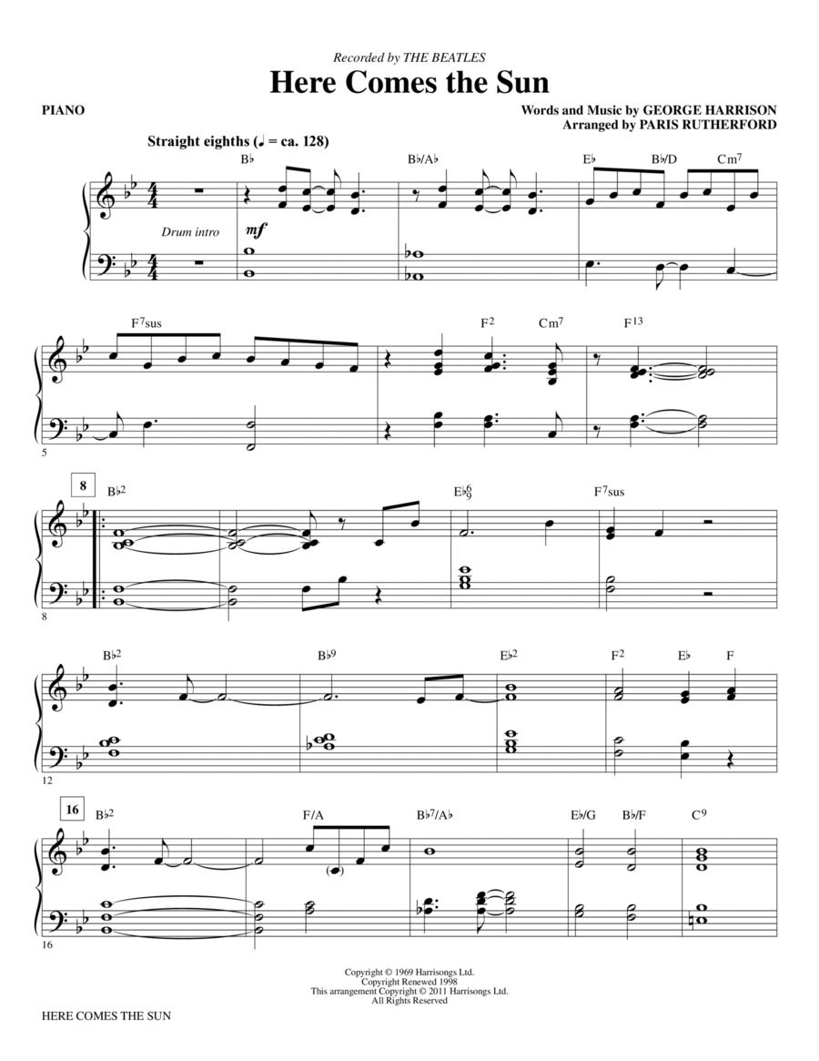 Here Comes The Sun - Piano