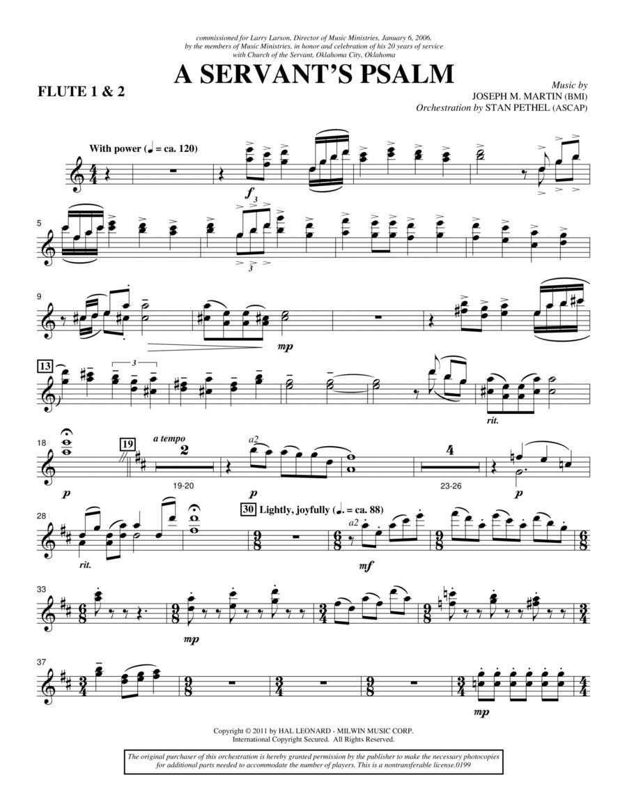 A Servant's Psalm - Flute 1 & 2